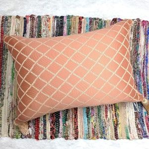 Coral Pink Tuturo Accent Pillow